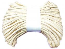 Sznurek bawełniany pełny 5mm ecru 50m