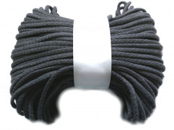 Sznurek bawełniany pełny 5mm szary ciemny 50m