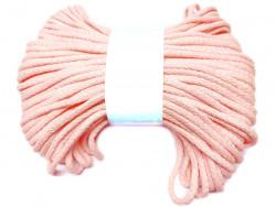 Sznurek bawełniany pełny 5mm różowy jasny 50m