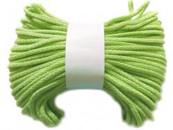 Sznurek bawełniany pełny 5mm zielony jasny 50m
