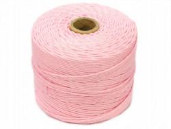 Sznurek bawełniany 2mm skręcany różowy jasny 300m
