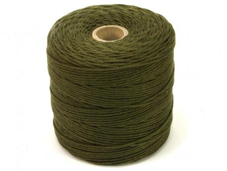 Sznurek bawełniany 2mm skręcany zielony khaki 300m