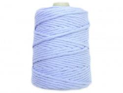 Sznurek bawełniany 5mm skręcany niebieski błękitny 100m