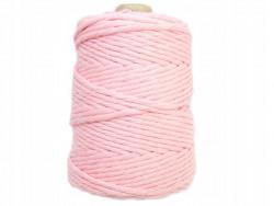 Sznurek bawełniany 3mm skręcany różowy jasny 200m