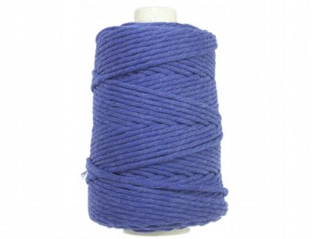 Sznurek bawełniany 3mm niebieski jeans 200m