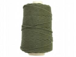 Sznurek bawełniany 3mm zielony khaki 200m