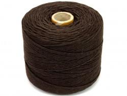 Sznurek bawełniany 2mm skręcany brązowy 300m