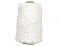 Sznurek bawełniany 3mm biały 200m