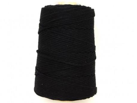 Sznurek bawełniany 3mm czarny 200m