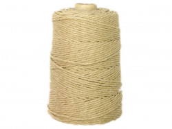 Sznurek bawełniany 3mm beżowy melanż 200m