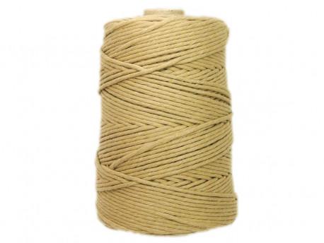 Sznurek bawełniany 3mm piaskowy 200m