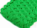 Tasiemka ząbki 9mm zielona