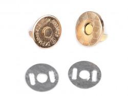 Zapięcie magnetyczne do torebek cienkie złote