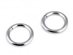 Kółko metalowe 15mm srebrne grube