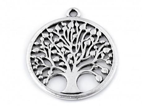 Zawieszka metalowa drzewo życia 34mm