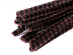Druty kreatywne w paski czarne-brązowe 10szt