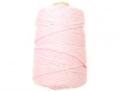 Sznurek bawełniany 5mm skręcany różowy pudrowy100m