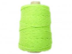Sznurek bawełniany 5mm skręcany zielony limonkowy 100m