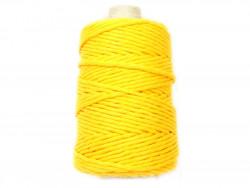 Sznurek bawełniany 3mm żółty 200m