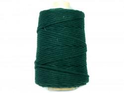 Sznurek bawełniany 3mm zielony ciemny 200m