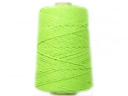 Sznurek bawełniany 3mm zielony jasny 200m