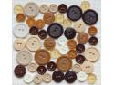 Guziki plastikowe - brązowe, beżowe, kremowe
