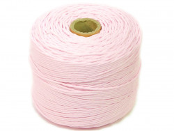 Sznurek bawełniany 2mm skręcany różowy blady 300m