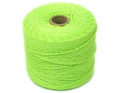 Sznurek bawełniany 2mm skręcany zielony jasny 300m