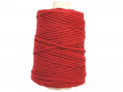 Sznurek bawełniany 5mm skręcany czerwony ciemny 100m