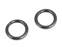 Kółko metalowe 15mm czarne grube