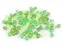Koraliki diament 6x6mm mix zielony ok. 350szt.