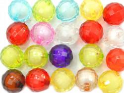 Koraliki kulki kanciaste 14mm mix kolorów 20szt