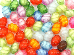 Koraliki świderki 13mm mix kolorów 50szt