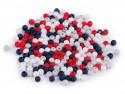 Koraliki kulki 3mm granatowe czerwone szare białe ok. 700szt. matowe