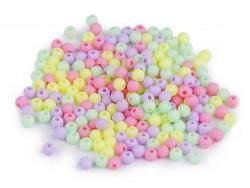 Koraliki kulki 3mm cukierkowe ok. 700szt. matowe