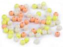 Koraliki kulki 5mm żółte morelowe kremowe 100szt. błyszczące