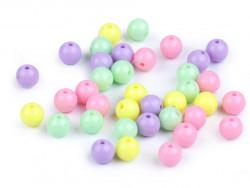 Koraliki kulki 7,5mm cukierkowe 50szt. błyszczące