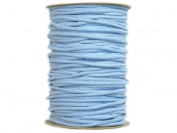Sznurek bawełniany 5mm błękitny 100m