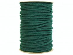 Sznurek bawełniany 5mm zielony szmaragdowy100m