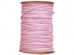 Sznurek bawełniany 3mm różowy jasny 100m