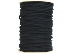 Sznurek bawełniany 3mm czarny 100m