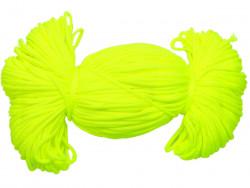 Sznurek poliestrowy 2mm neon żółty cytrynowy 100m