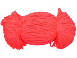 Sznurek poliestrowy 2mm neon różowy 100m