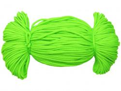 Sznurek poliestrowy 2mm neon zielony 100m