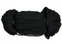 Sznurek poliestrowy 2mm czarny 100m