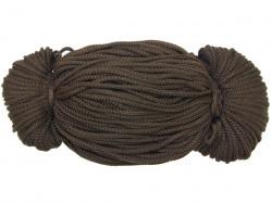 Sznurek poliestrowy 2mm brązowy ciemny 100m
