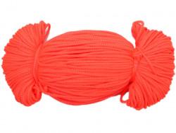 Sznurek poliestrowy 2mm neon pomarańczowy 100m