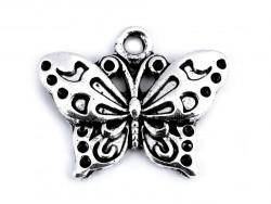Zawieszka metalowa motylek