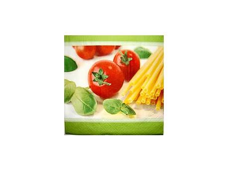 Serwetki Decoupage - Pomidory, Bazylia i Pasta