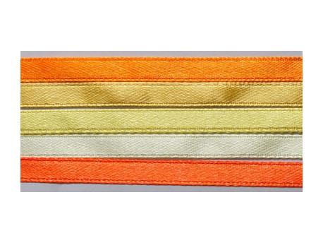 Zestaw Wstążek 6mm - Pomarańcza i Cytryna